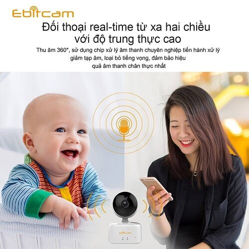 Camera IP Wifi 2.0MP Ebitcam E2-X đàm thoại 2 chiều